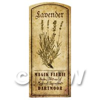 Dolls House Herbalist/Apothecary Lavender Herb Short Sepia Label