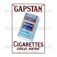 Dolls House Miniature Capstan Cigarette Shop Sign Circa 1910