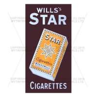 Dolls House Miniature Wills Star Cigarette Shop Sign Circa 1910