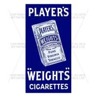 Dolls House Miniature Players Weights Cigarette Shop Sign Circa 1900