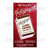 Dolls House Miniature Wills Autograph Cigarette Shop Sign Circa 1915