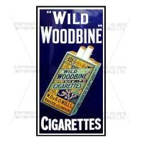 Dolls House Miniature Wild Woodbine Cigarette Shop Sign Circa 1910