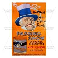 Dolls House Miniature Passing Show Cigarette Shop Sign Circa 1910
