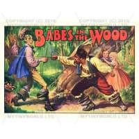 Dolls House Miniature 1930s Babes In The Wood Theatrical Poster