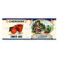 1/12th scale - Dolls House Miniature J. J. Lassiter Tomato Juice Label (1920s)