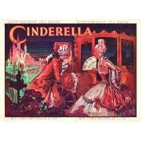 Dolls House Miniature 1930s Cinderella Theatrical Poster