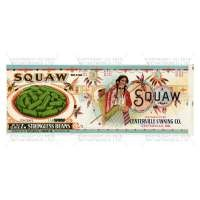 Dolls House Miniature Squaw Brand Stringless Beans Label (1920s)