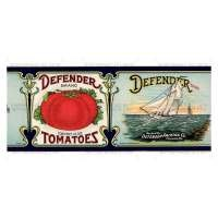 Dolls House Miniature  Defender Tomato Label (1920s)