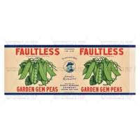 Dolls House Miniature Faultless Garden Gem Peas Label (1930s)