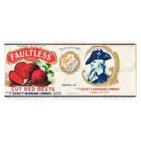 Dolls House Miniature Faultless Cut Red Beets Label (1930s)