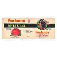Dolls House Miniature Powhatan Apple Sauce Label (1930s)