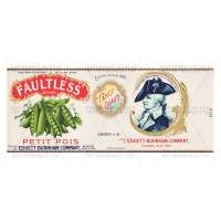 Dolls House Miniature Faultless Petit Pois Label (1930s)