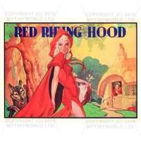 Dolls House Miniature 1930s Red Riding Hood Theatrical Poster