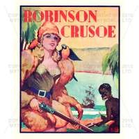 Dolls House Miniature 1930s Robinson Crusoe Theatrical Poster