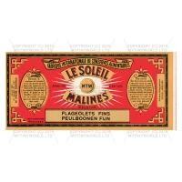 Dolls House Miniature Le Soleil Fine Flageolet Beans Label (1890s)