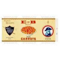 Dolls House Miniature Burnam Diced Carrots Label (1930s)