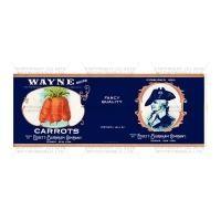 Dolls House Miniature Wayne Carrots Label (1930s)