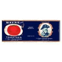 Dolls House Miniature Wayne Tomatoes Label (1930s)