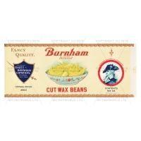 Dolls House Miniature Burnam Cut Wax Bean Label (1930s)