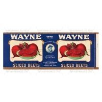 Dolls House Miniature Wayne Sliced Beets Label (1930s)