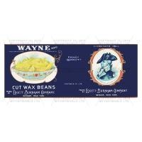 Dolls House Miniature Wayne Cut Wax Beans Label (1930s)