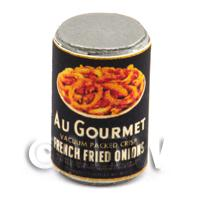 Dolls House Miniature Au Gourmet Brand Fried Onions Can (1930s)