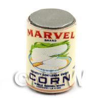 Dolls House Miniature Marvel Brand Sweet Corn Can (1930s)