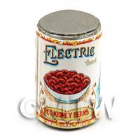Dolls House Miniature Electric Brand Red Kidney Beans Can (1900s)