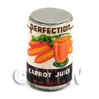 Dolls House Miniature Perfection Brand Carrot Juice Can (1930s)
