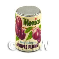 Dolls House Miniature Monica Brand Purple Plums Can (1930s)