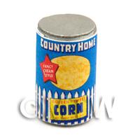 Dolls House Miniature Country Home Brand Sweet Corn Can (1940s)