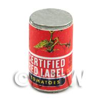 Dolls House Miniature Red Label Brand Tomatoes Can (1940s)