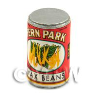 Dolls House Miniature Fern Park Wax Beans Can (1920s)