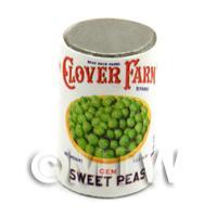 Dolls House Miniature Clover Farm Sweet Peas Can (1920s)