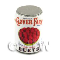 Dolls House Miniature Clover Farm Small Whole Beets Can (1920s)