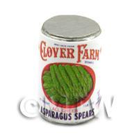 Dolls House Miniature Clover Farm Asparagus Spears Can (1920s)