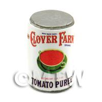 Dolls House Miniature Clover Farm Tomato Puree Can (1920s)