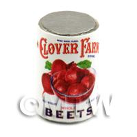 Dolls House Miniature Clover Farm Whole Beets Can (1920s)