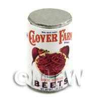 Dolls House Miniature Clover Farm Shoe String Beets Can (1920s)