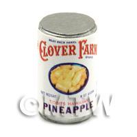 Dolls House Miniature Clover Farm Pineapple Tidbits Can (1920s)