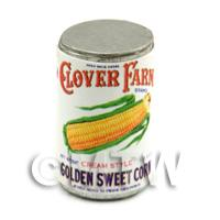 Dolls House Miniature Clover Farm Golden Sweetcorn Can (1920s)
