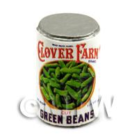 Dolls House Miniature Clover Farm Green Beans Can (1920s)