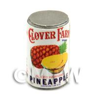 Dolls House Miniature Clover Farm Sliced Pineapple Can (1920s)