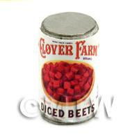 Dolls House Miniature Clover Farm Diced Beets Can (1920s)