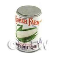 Dolls House Miniature Clover Farm White Sweet Corn Can (1920s)