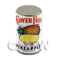 Dolls House Miniature Clover Farm Crushed Pinapple Can (1920s)