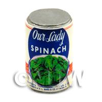 Dolls House Miniature Own Lady Brand Spinach Can (1940s)