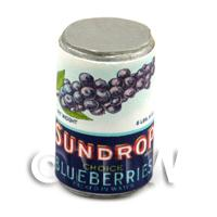 Dolls House Miniature Sundrop Blueberries Can (1920s)
