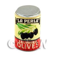 Dolls House Miniature La Perla Brand Olives Can (1930s)