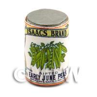 Dolls House Miniature Isaacs Early June Beans Can (1930s)